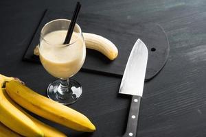 frullato di banana foto