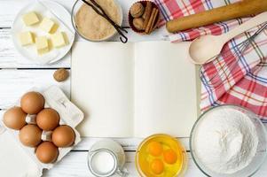 sfondo del libro di ricette
