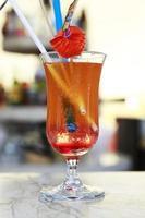 raccolta di cocktail e altre bevande foto