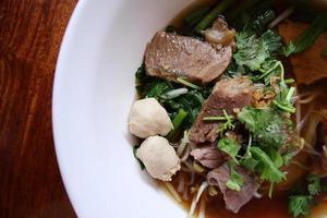 ricetta asiatica della tagliatella di riso. foto
