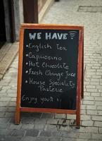 menu lavagna