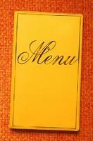 libro di menu