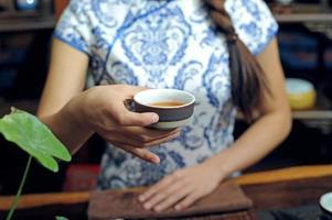 il tè è la cerimonia del tè foto