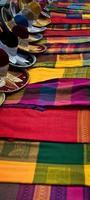 coperta messicana e cappelli charro foto