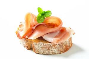 pane con prosciutto crudo foto
