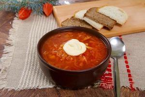 borsch di zuppa rossa foto