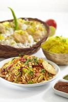 bhelpuri, chat food, india foto