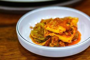 kimchi, cibo coreano tradizionale foto