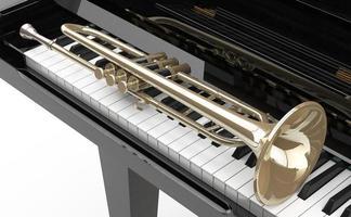 piano de cola y trompeta foto