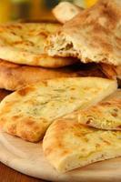 pita di pane da vicino foto