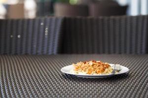 spaghetti di maiale, alla bolognese foto