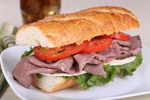 sandwich di manzo foto