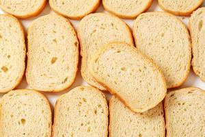 pane bianco a fette foto