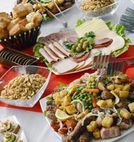 cibo per catering foto