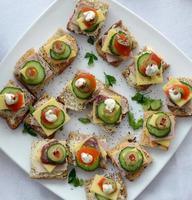 catering, tartine foto