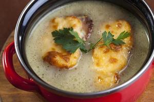 zuppa di cipolle francese foto