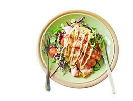 insalata di pancetta isolata foto