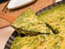 torta salata di spinaci foto