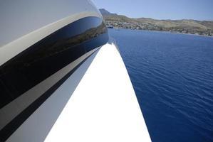 dritta per yacht a motore foto