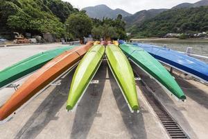 barche del drago utilizzate nel festival di duanwu foto
