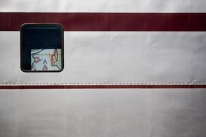 finestra del treno foto