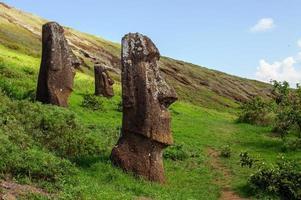 statue su isla de pascua. rapa nui. isola di Pasqua foto
