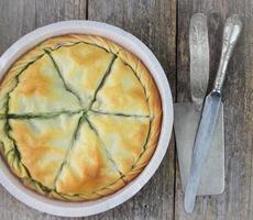torta greca spanakopita foto