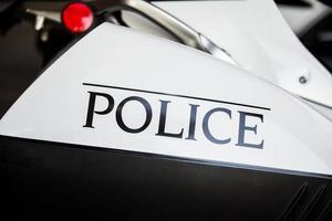 moto della polizia foto