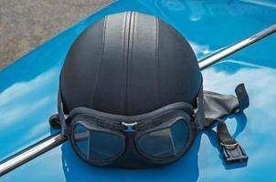 casco da motociclista foto