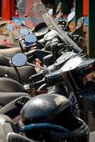 parcheggio per moto foto