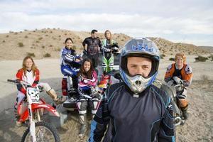 corridori di motocross foto