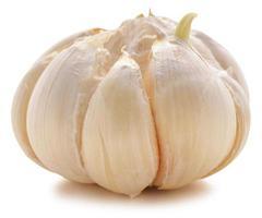 bulbo di aglio isolato su sfondo bianco foto