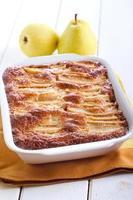 torta di pere integrale di farina d'avena