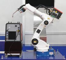 saldatore robotico del braccio foto