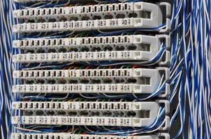 pannello di connessione per sistemi di telecomunicazione foto
