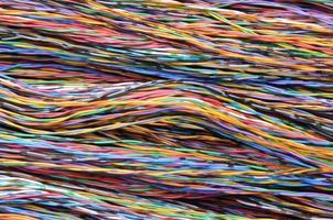 cavi per telecomunicazioni colorati, connessioni di rete foto