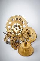 ingranaggi di orologi meccanici foto