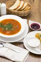 zuppa di barbabietole foto