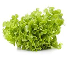 mazzo di foglie di insalata di lattuga fresca foto