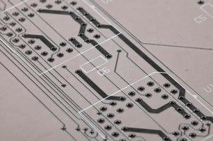 macro della scheda di circuito foto