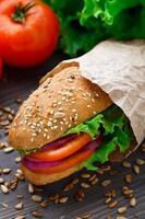 panino con verdure fresche foto
