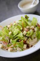 insalata di panna bianca foto