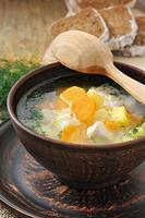 zuppa di pollo foto