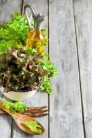 sfondo di insalata verde foto