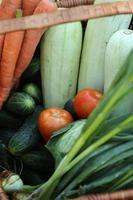 primo piano delle verdure foto