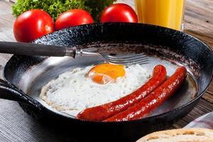uovo fritto. foto