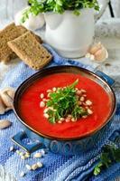 zuppa di crema di verdure foto
