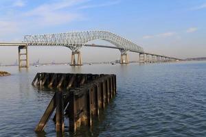 ponte chiave e muro di sostegno di Francis Scott, Baltimore Maryland foto