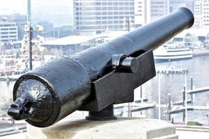 cannone da guerra a protezione del baltimore foto