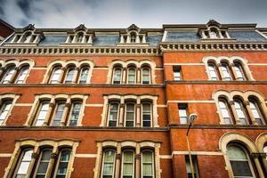vecchia architettura a Baltimora, Maryland. foto